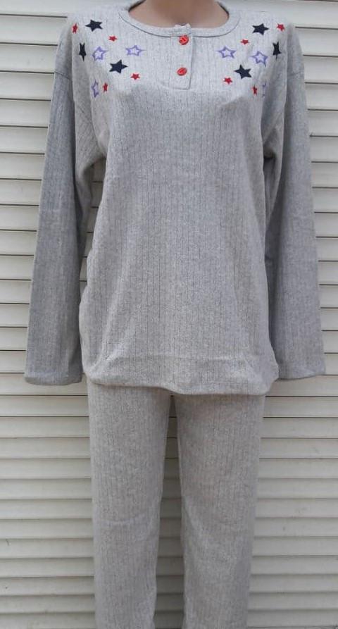 Женская кашемировая пижама Теплая пижама из натуральной ткани Цветные звезды L