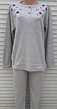 Женская кашемировая пижама Теплая пижама из натуральной ткани Цветные звезды L, фото 2