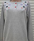 Женская кашемировая пижама Теплая пижама из натуральной ткани Цветные звезды L, фото 3