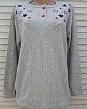 Жіноча кашемірова піжама Тепла піжама з натуральної тканини Кольорові зірки М, фото 3