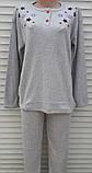 Жіноча кашемірова піжама Тепла піжама з натуральної тканини Кольорові зірки М, фото 5