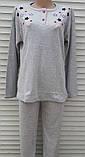 Жіноча кашемірова піжама Тепла піжама з натуральної тканини Кольорові зірки М, фото 8