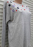 Жіноча кашемірова піжама Тепла піжама з натуральної тканини Кольорові зірки М, фото 9
