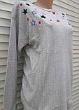 Жіноча кашемірова піжама Тепла піжама з натуральної тканини Кольорові зірки М, фото 10