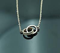 Шикарная подвеска спелетенные кольца Xuping. Бижутерия из ювелирной коллекции Xuping оптом. 19