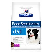 Сухой корм HILL`S (Хилс) Prescription Diet d/d для собак при аллергии и пищевой непереносимости утка 2 кг