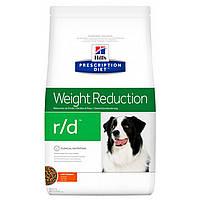 Сухой корм HILL`S (Хилс) Prescription Diet r/d Weight Reduction для собак для снижения веса 1.5 кг