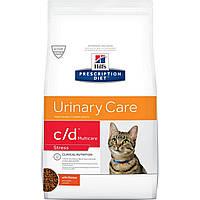 Сухой корм HILL`S (Хилс) c/d Multicare Stress Feline для кошек при заболеваниях мочевыводящих путей 0.4 кг