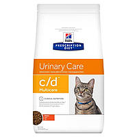 Сухой корм HILL`S (Хилс) c/d Multicare Urinary Care для кошек заболевания мочевыводящих путей курица 0.4 кг