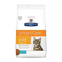 Сухой корм HILL`S (Хилс) c/d Multicare Urinary Care для кошек заболевания мочевыводящих путей рыба 1.5 кг