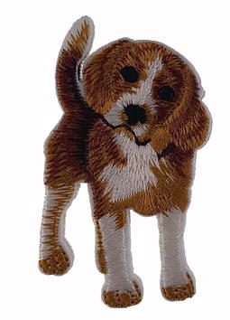 На одежду нашивка апликация отличное качество собака бигль термонаклейка