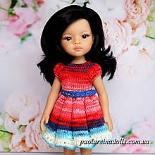 """Плаття з рукавом ліхтарик """"Рожеве сяйво"""" для ляльок Паола Рейну"""