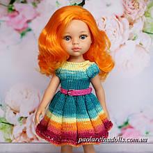 """Плаття з рукавом ліхтарик """"Імбирний пряник"""" для ляльок Паола Рейну"""