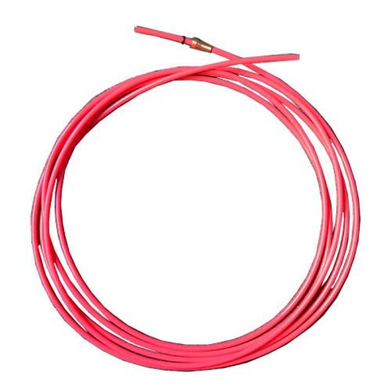 Тефлоновый подающий канал с цангой для полуавтомата красный, 3,2 м  (диаметр проволоки 1,0-1,2)