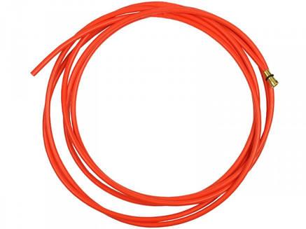 Тефлоновый подающий канал с цангой для полуавтомата красный, 3,2 м  (диаметр проволоки 1,0-1,2), фото 2