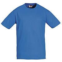 Голубые футболки из хлопка Heavy Super Club, размер S, под печать логотипа