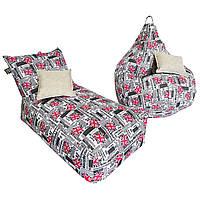 Комплект бескаркасной мебели Лежак+Груша TIA-SPORT