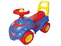 Детский автомобиль толокар для прогулок Спайдермен Технок для  мальчика