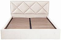 Кровать Двуспальная Richman Лидс 180 х 200 см Мисти Milk С подъемным механизмом и нишей для б ZZ, КОД: 2507497