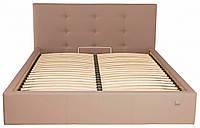 Кровать Richman Манчестер 140 х 200 см Флай 2213 Светло-коричневая ZZ, КОД: 2508477