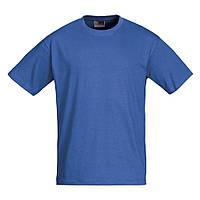 Синие футболки из хлопка Heavy Super Club, размер М, под печать логотипа