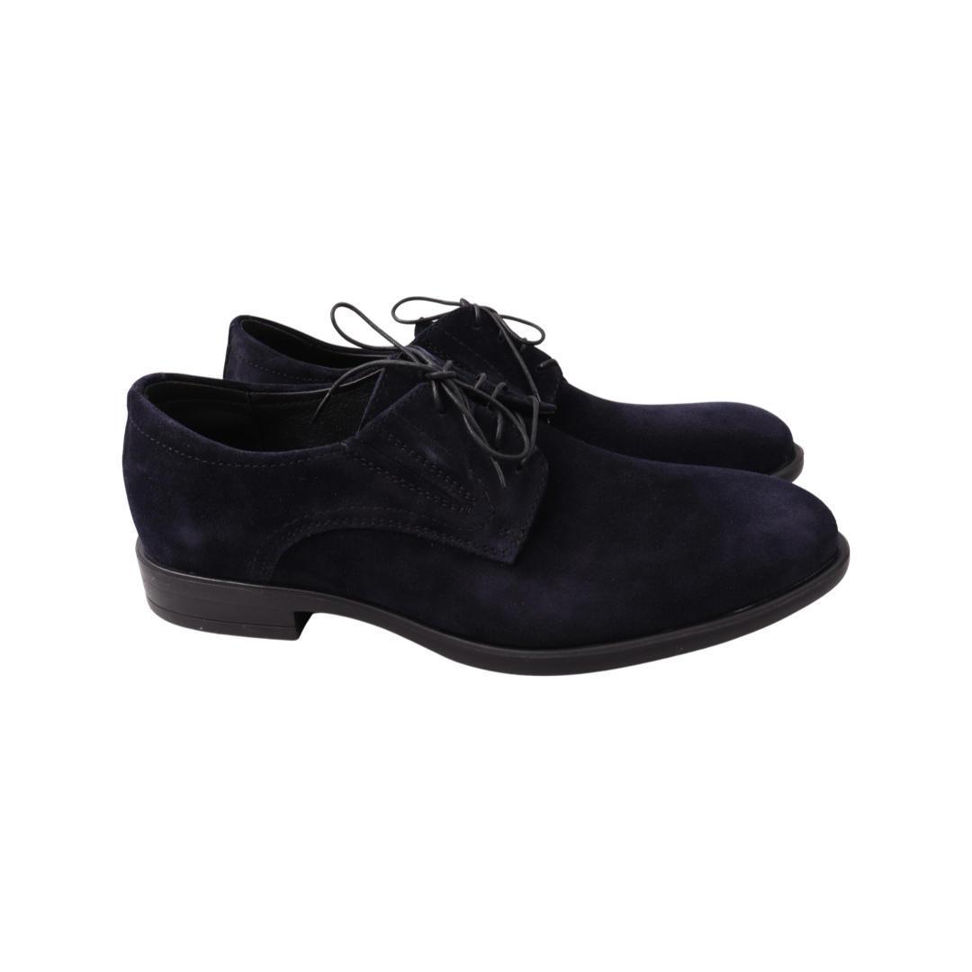 Туфлі чоловічі Vadrus сині натуральна замша