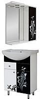 """Комплект мебели для ванной комнаты """"прототип-1"""" (правый Ч/Б бабочка)"""