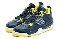 Мужские Баскетбольные кроссовки Air Jordan Retro 4 (Blue/Yellow/White), фото 1