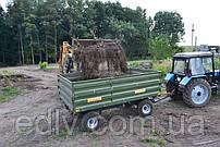 Тракторный прицеп 2ПТС-8 к тракторам МТЗ-82 грузоподъемность 6 т, объем 5,4 м3