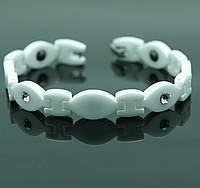 Купить оптом белые керамические магнитные БРАСЛЕТЫ в Украине (керамика). 511