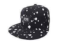 Черная кепка DOPE с белым логотипом (реплика)