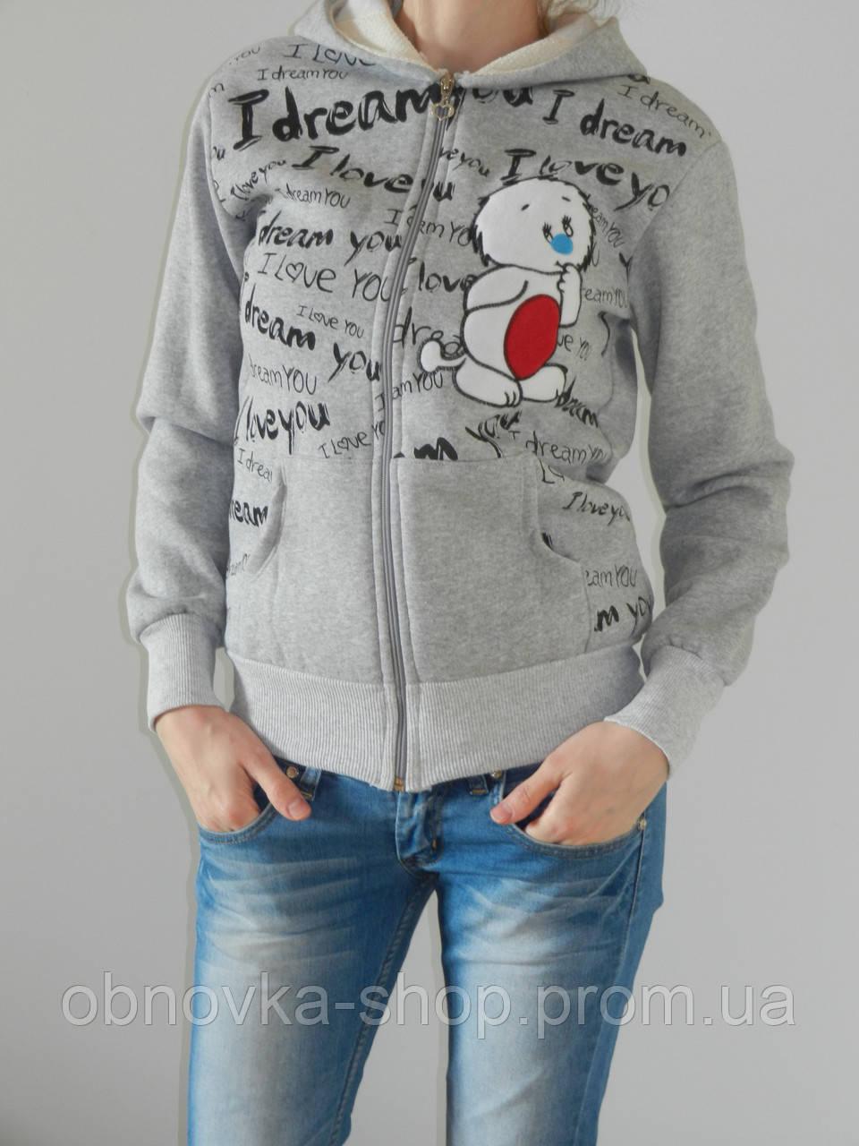 e3bdc6a6 Толстовка с мишкой белым с капюшоном женская на флисе рр. М, L - Интернет