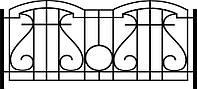 Забор кованый