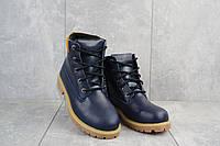 Підліткові черевики шкіряні зимові сині Monster T