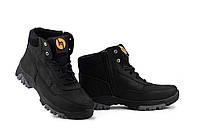 Підліткові черевики шкіряні зимові чорні Monster М