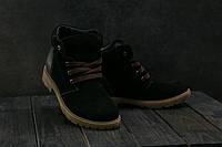 Підліткові замшеві черевики зимові чорні Braxton 397 z