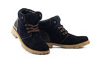 Підліткові замшеві черевики зимові сині Braxton 397 zsi