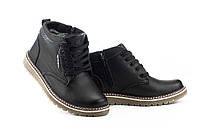 Підліткові черевики шкіряні зимові чорні Anser 65