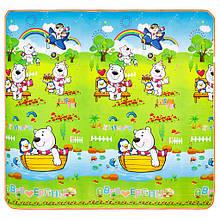 Дитячий килимок ведмідь з пінгвіном/парк тварин EPE 200*180*1см