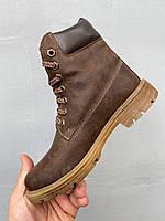 Підліткові черевики шкіряні зимові коричневі Brand Т