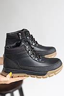 Підліткові черевики шкіряні зимові чорні Zangak 801 чл+PS