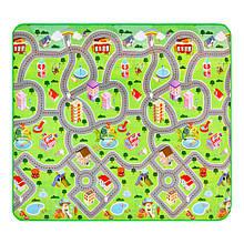Дитячий килимок двосторонній EPE дорога /звірі 200*180*0,5 см