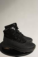 Підліткові черевики шкіряні зимові чорні Monster Ш на хутрі