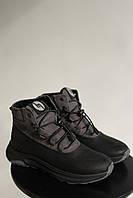 Підліткові черевики шкіряні зимові сірі Monster Ш на хутрі