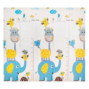 Детский коврик двухсторонний  слон/алфавит  XPE 200*180*1см, фото 2
