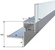 Профиль для подсветки контура (контурная подсветка) потолка из гипсокартона, фото 2