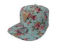 Бирюзовая кепка Hater с цветами
