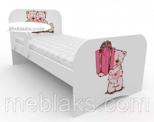 """Кровать детская """"Мишка с подарком"""" Mebelkon"""