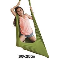 Гамак-гойдалки бавовняний для дітей і дорослих 100х280 см 5 кольорів, фото 1