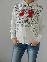Женская толстовка с мишкой коричневым с капюшоном  на флисе рр. М, L